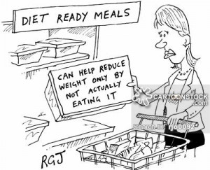 'Diet ready meals' 'Can help reduce weight only by not actually eating it'